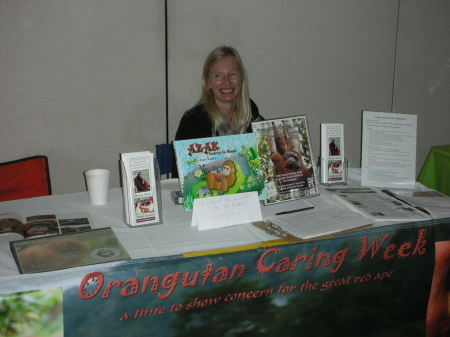 Wendy Hoole Cundiff at OURF table during SCPRF
